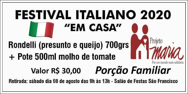 """Vem aí o Festival Italiano 2020 """"em casa"""""""