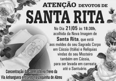 Atenção Devotos de Santa Rita…