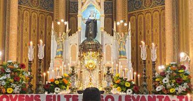 Momento Eucarístico da Forania São José na Jornada Arquidiocesana da Juventude