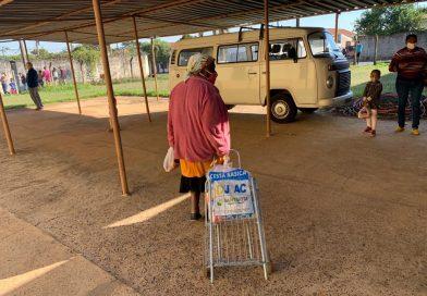 Distribuição de cestas do mês de julho de 2021 no Projeto Maria